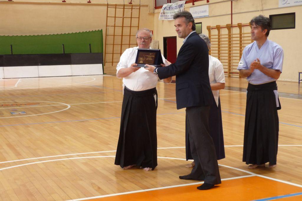 La premiazione del vincitore, Claudio Penna