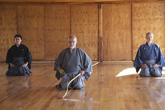 Lo Yawatashi di apertura: Ite Felix F. Hoff sensei (Kyoshi, 6° dan), assistito da Laurence Oriou sensei (Kyoshi, 6° dan) e da Claude Luzet sensei (Kyoshi, 6° dan)